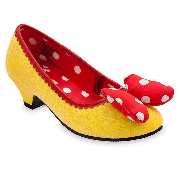 Disney Store Minnie Mouse Yellow Costume Shoes For Kids