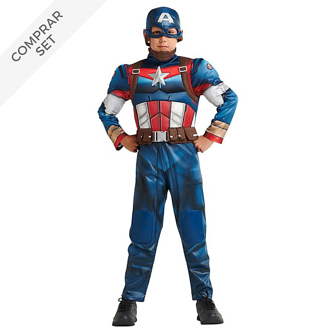 Conjunto disfraz infantil Capitán América, Disney Store