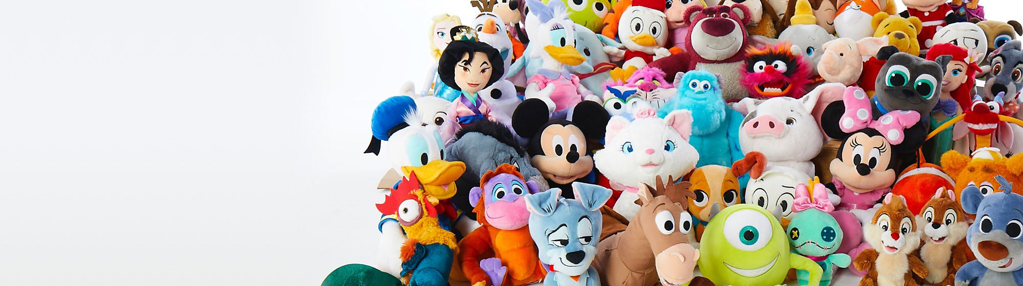 Soft Toys Meet the best huggers ever! Explore our range of soft toys  including Stitch, Mickey Mouse, Winnie the Pooh and more