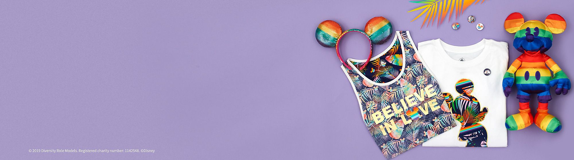 Disney Rainbow Collection To celebrate PRIDE, Disney Store has released the Rainbow Disney Collection, an exclusive range including soft toy, accessories and pin set. Disney PRIDE UK & Ireland will be marking Pride 2019 with a donation to Diversity Role Models.