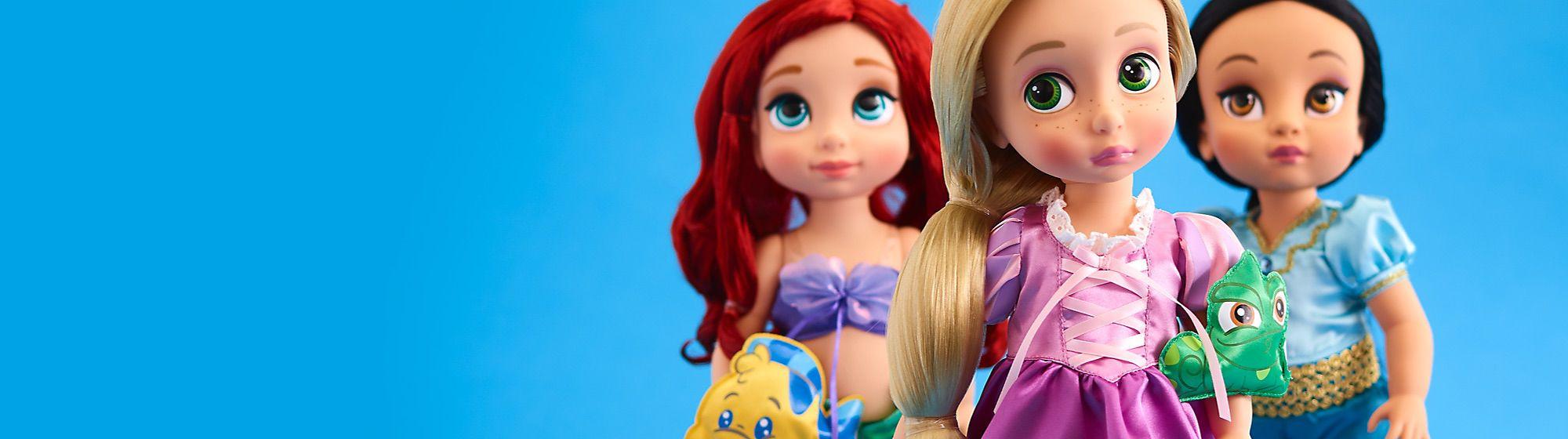 Animator Découvrez la collection de poupées et jouets Disney Animator, de Raiponce à Belle, en passant par Mérida et la Fée Clochette !