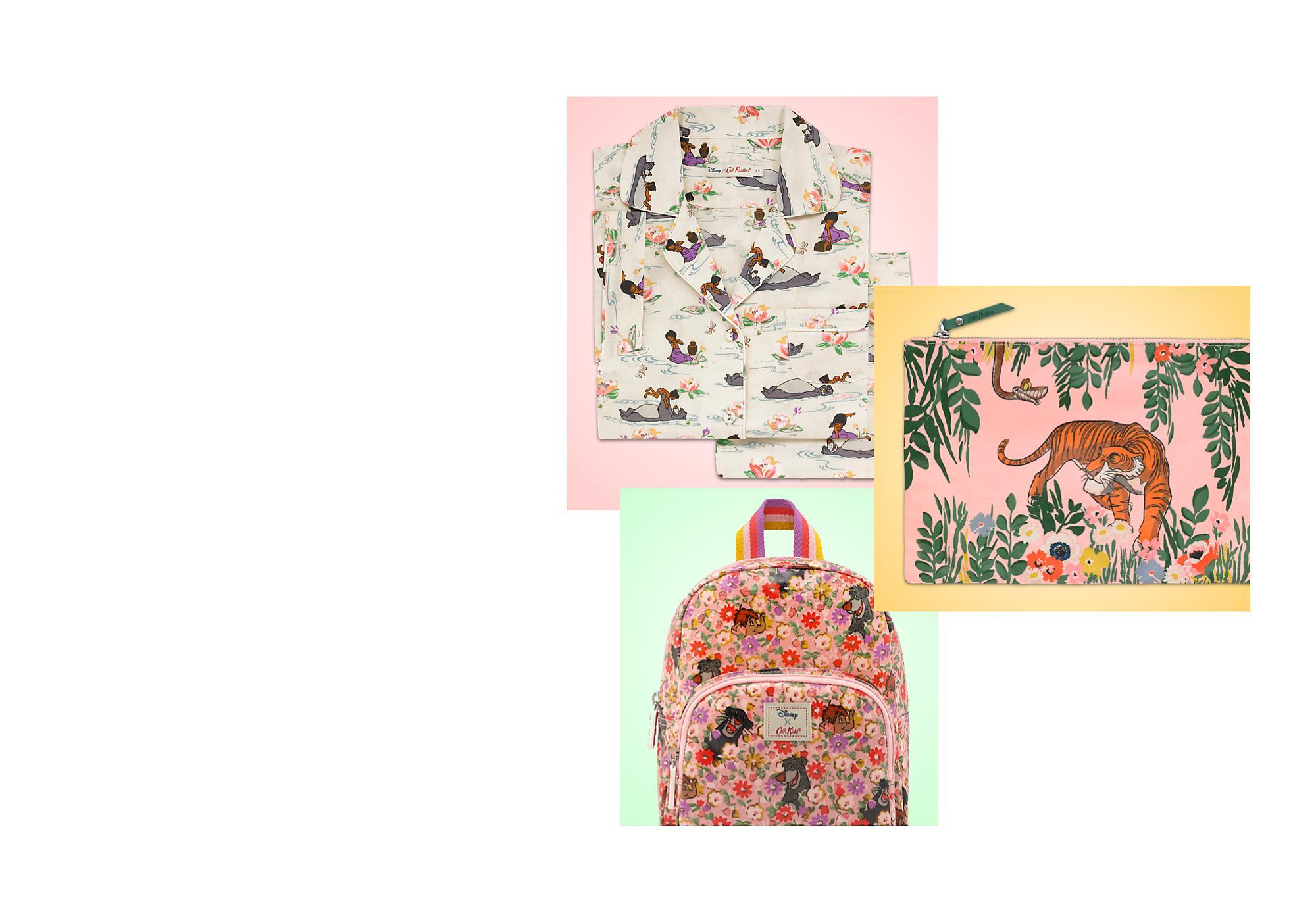 Buscá lo más vital Descubre la  colección de ropa, complementos y accesorios para el hogar, de Cath Kidston inspirada en la película de El libro de la selva de Disney