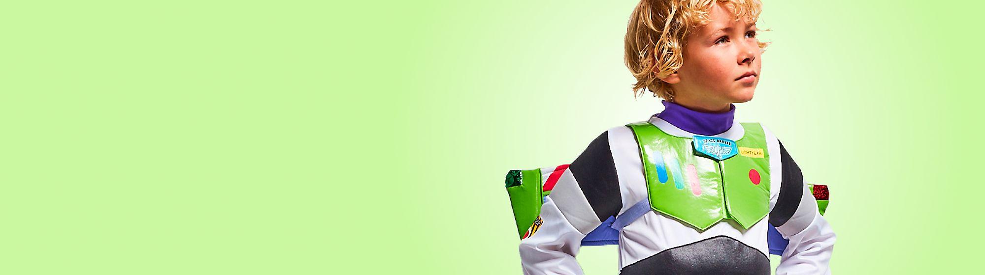 Costumi Carnevale bambini Tanti speciali vestiti dai dettagli unici dedicati ai personaggi Disney come Minnie e Biancaneve, Stormtrooper di Star Wars, la coraggiosa Merida di Pixar e i supereroi Marvel