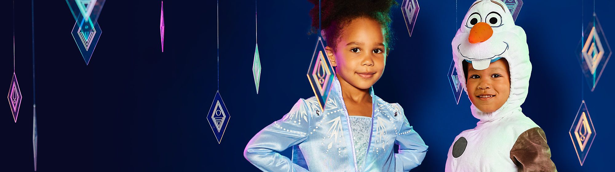 Fancy Dress Discover a magical range Official Disney, Marvel and Star Wars fancy dress costumes for the whole family. Shop an amazing collection for babies, kids and adults featuring favourites like Disney Princesses, Spider-Man, Stormtoopers and many more. DISCOVER MORE