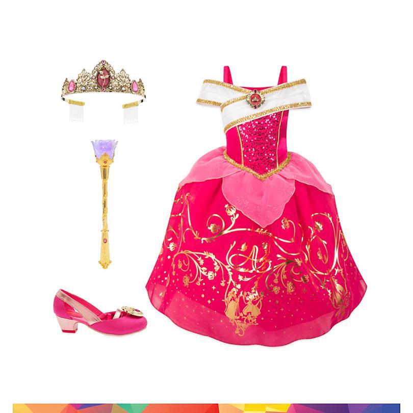 Conjunto disfraz infantil Aurora, La Bella Durmiente, Disney Store  COMPRAR