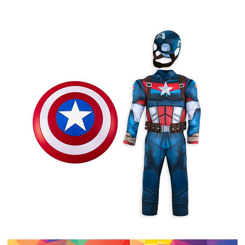 Conjunto disfraz infantil Capitán América, Disney Store  COMPRAR