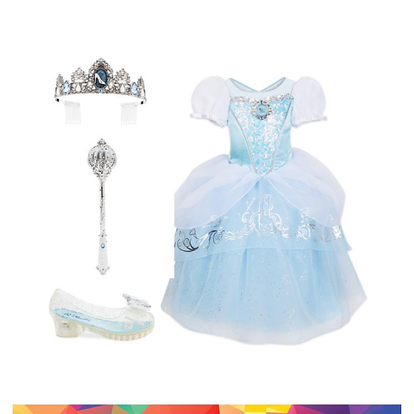 Conjunto disfraz infantil La Cenicienta, Disney Store  COMPRAR