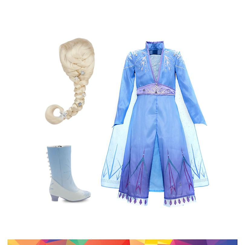 Conjunto disfraz infantil Elsa, Frozen 2, Disney Store  COMPRAR