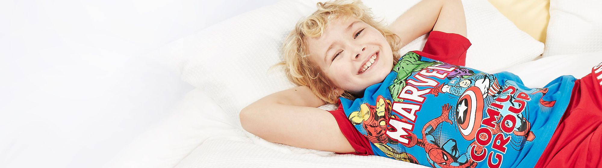 Nightwear & Pyjamas Rise and shine in style with our range of kids nightwear including pyjamas, dressing gowns and slippers. Sweet dreams guaranteed!
