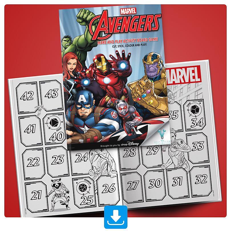 Homemade Marvel Board Game