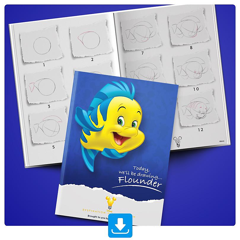 Learn how to draw Flounder