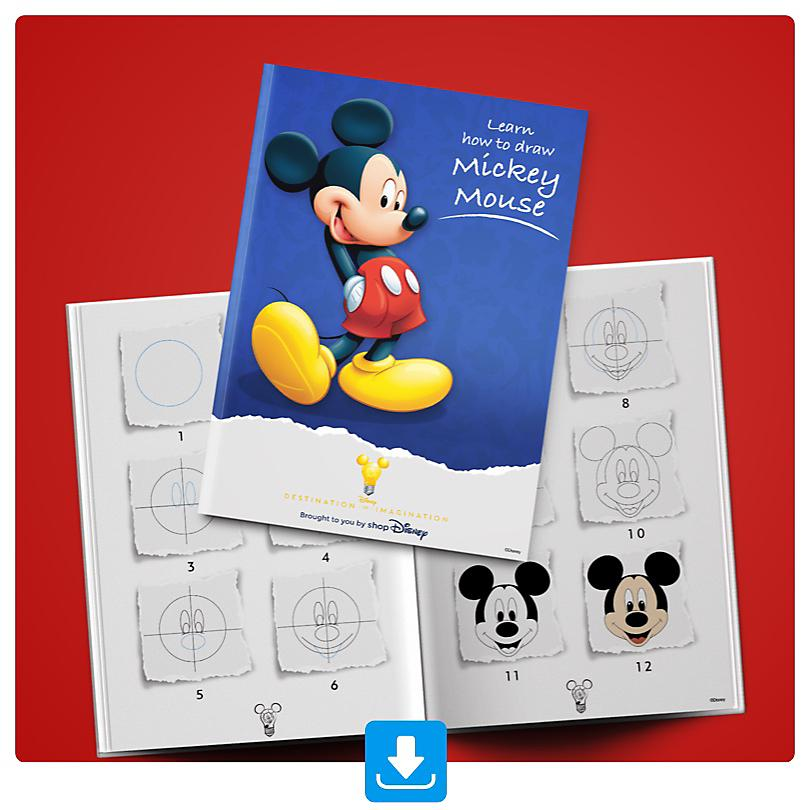 Learn how to draw Mickey Mouse