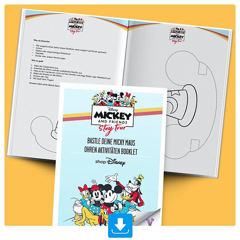 Bastle deinen Micky Maus Ohren Aktivitäten Booklet