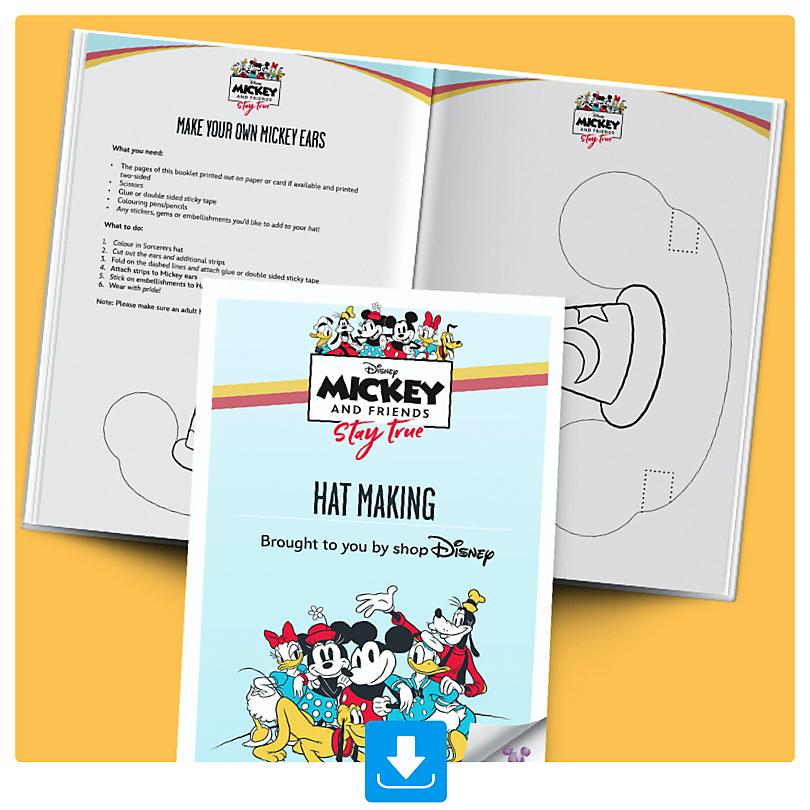 Create your own Mickey Ears Activity Booklet