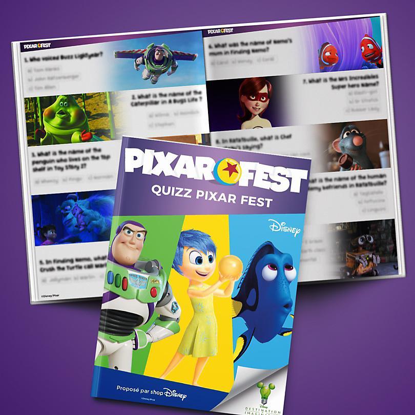 Semaine 4 Quiz Pixar Fest