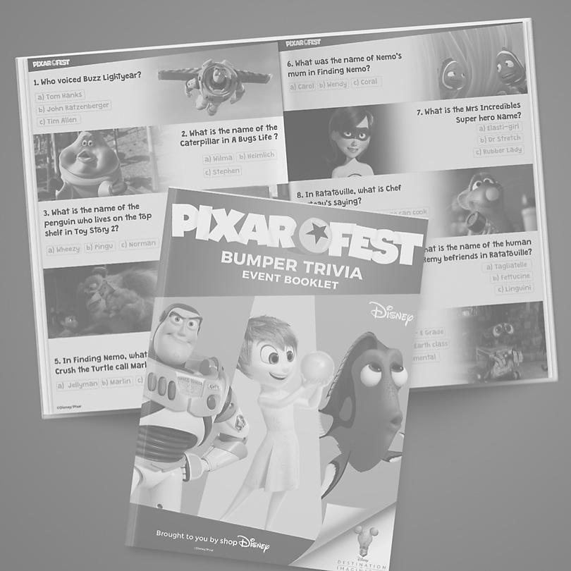 Week 4 Pixarfest Trivia COMING SOON