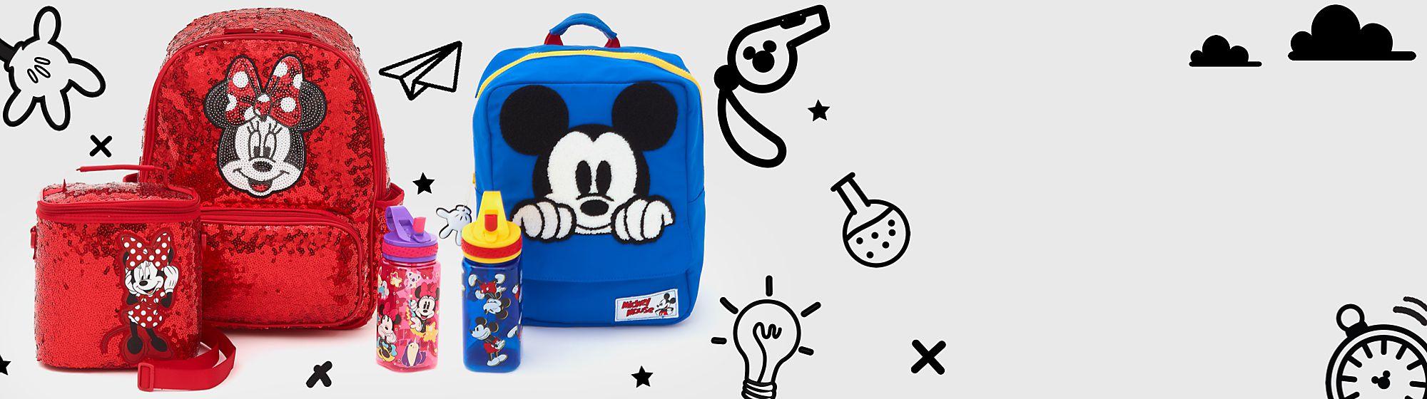 Schulanfang Mach dich bereit für die Schule mit einer großen Vielfalt an Kleidung, Rucksäcken und Schreibwaren mit deinen Lieblings-Disneyfiguren .