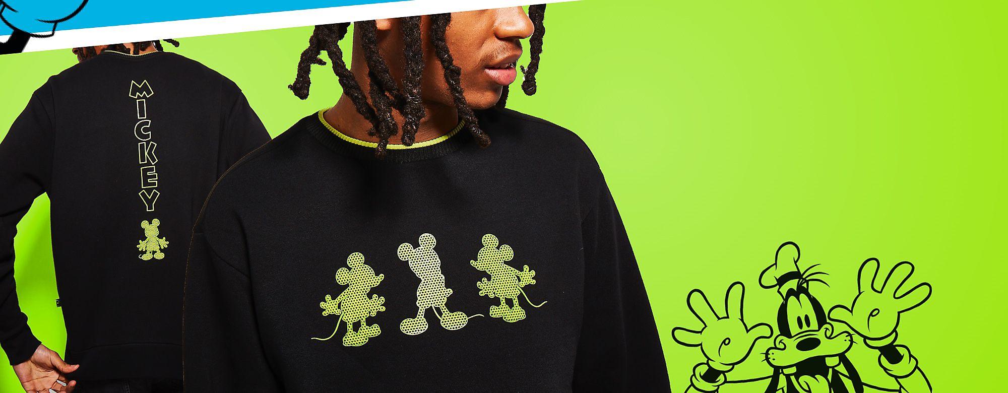 Colección  Mickey Mouse: Neon Festival Luce un rollito informal al estilo Disney con nuestros básicos de moda COMPRAR