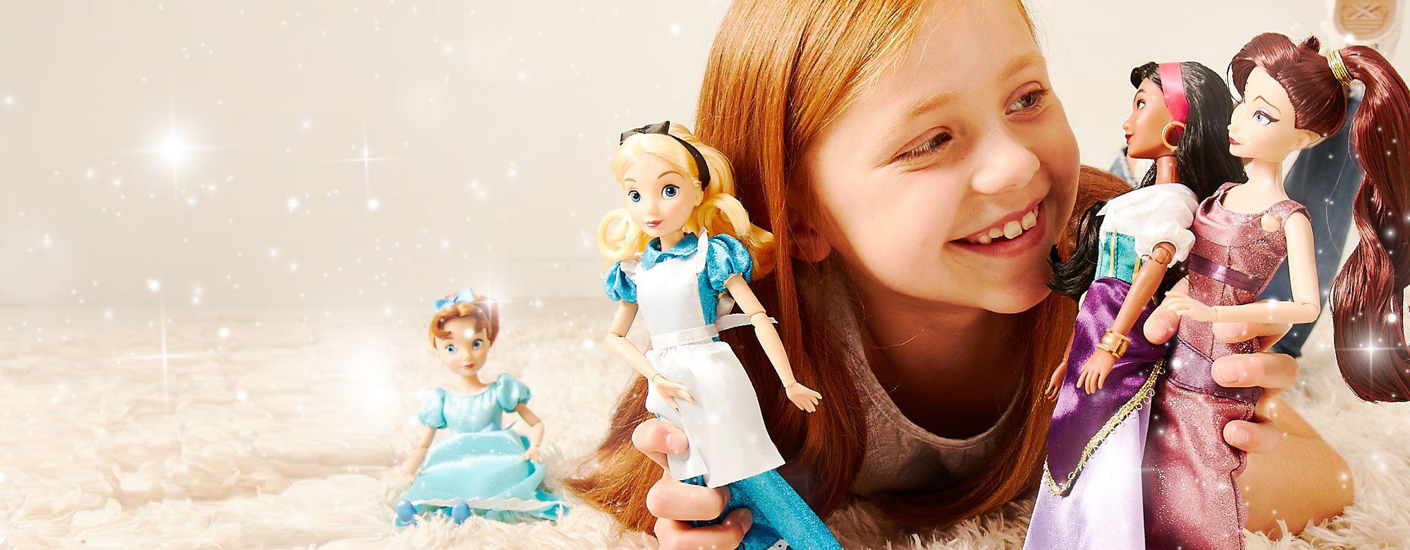 Nouvelles poupées classiques De nouvelles amies viennent jouer : Mégara, Clochette, Alice, Esmeralda et Wendy VOIR LA COLLECTION