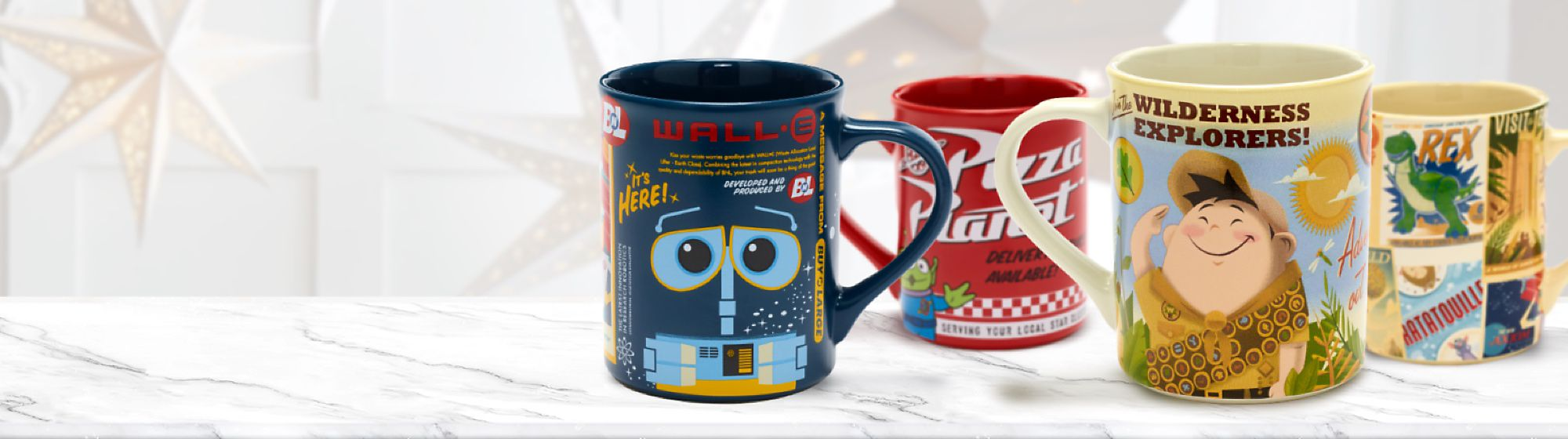 Mugs, Cups & Bottles Discover our range of Disney, Pixar, Star Wars and Marvel mugs, cups and bottles featuring all your favourite characters