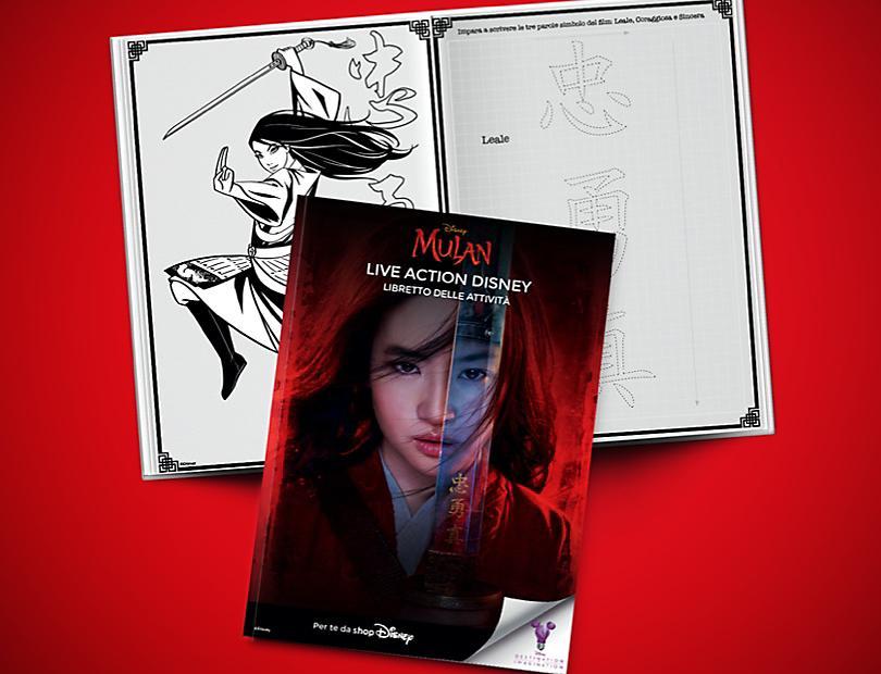 Mulan Live Action Disney – Libretto delle Attività
