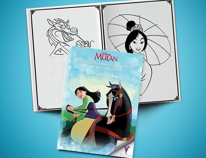 Mulan Classico d'Animazione Disney – Libretto delle Attività