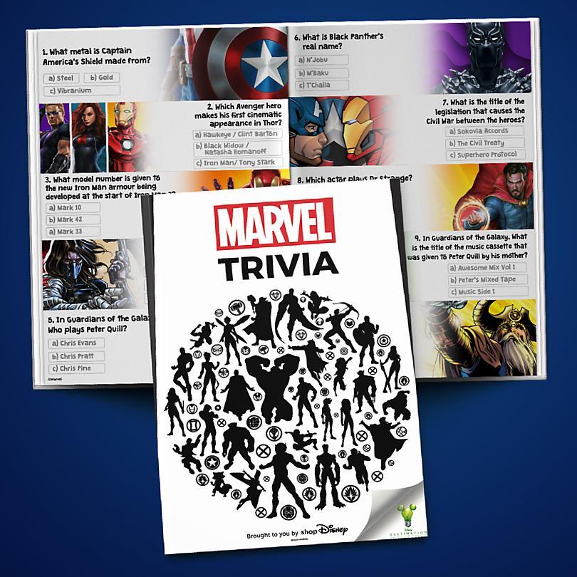 Marvel Trivia Booklet