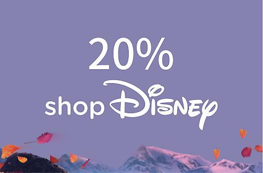 Entra en shopDisney con tu código único y canjea tu -20%