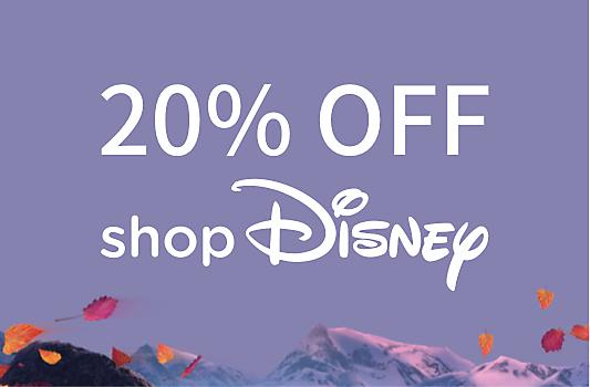 Head to shopDisney with your unique discount code and get 20% off