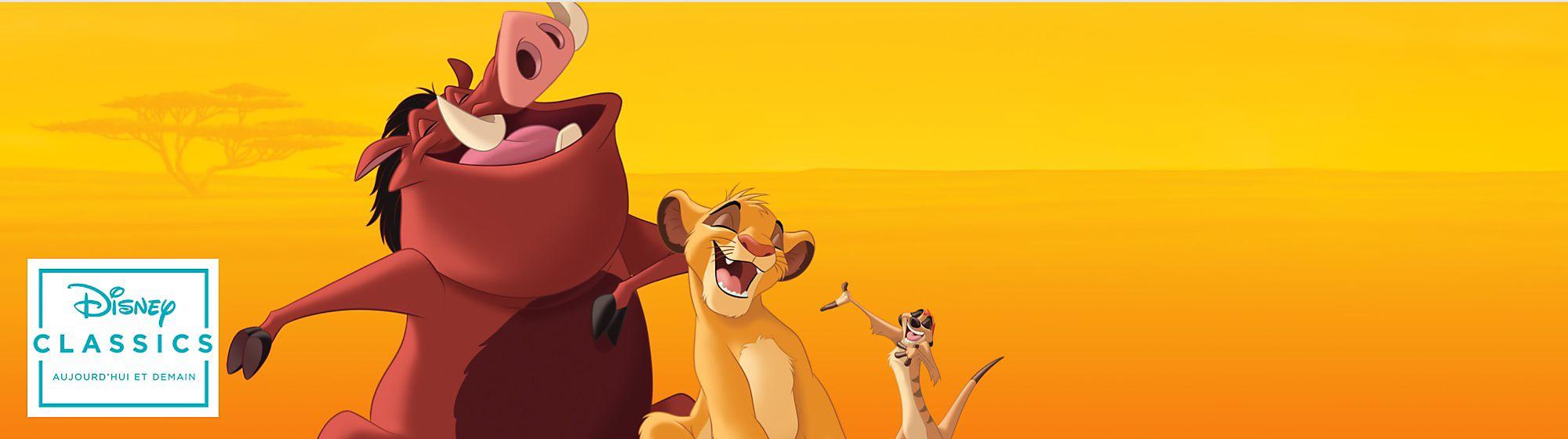 Le Roi Lion Dans la savane, Simba, le Roi Lion veille sur les animaux sauvages et protège son territoire avec Timon, Pumbaa ou encore Nala.