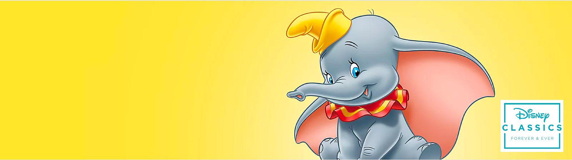 Dumbo Scopri la selezione dedicata all'elefantino Dumbo che comprende peluche, confezioni regalo per baby shower e dolci tutine