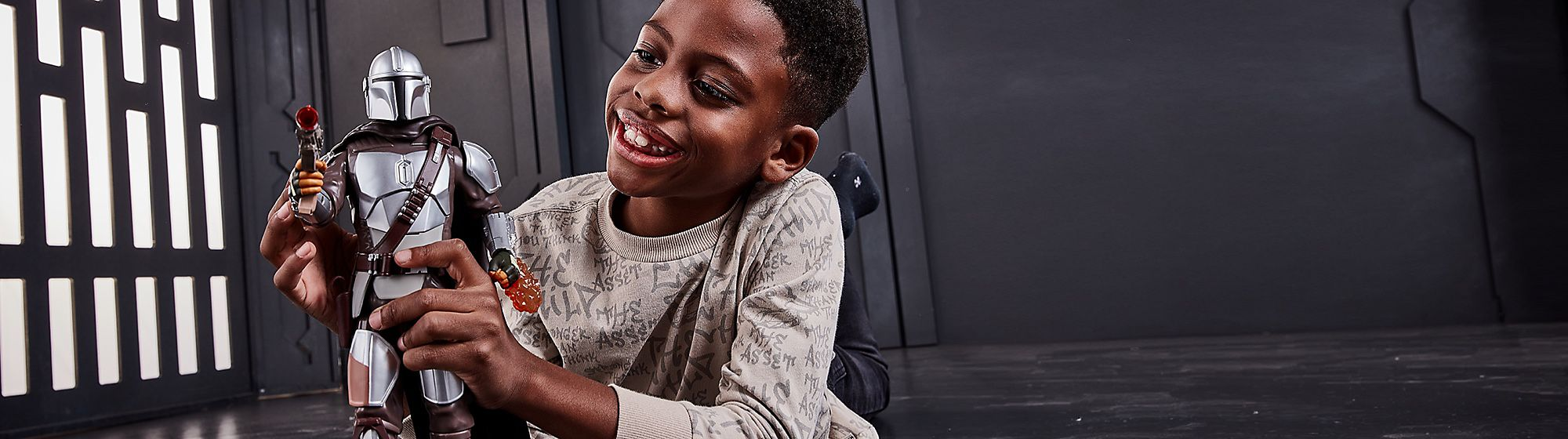Kids Find the perfect gift for any little Star Wars fan featuring toys, playsets, costumes and more