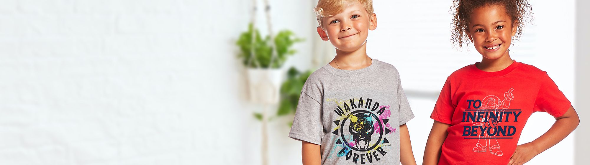 Kids Customised T-Shirts Explore an all-new selection of kids personalisable T-shirts! Pick a print, pick a colour, and leave the magic to us £10 each | 2 for £18 | 3 for £24
