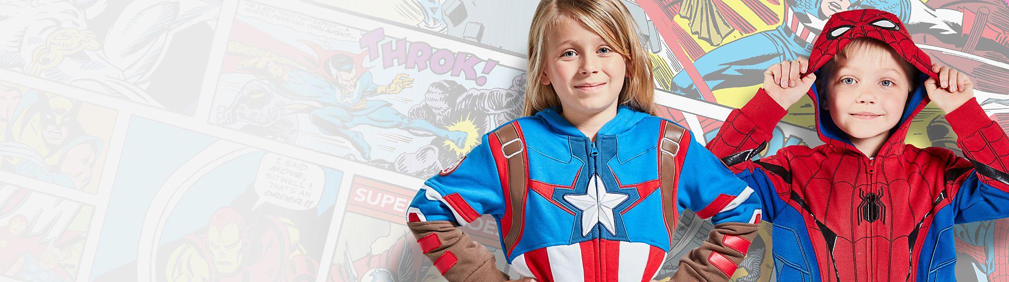 Marvel für Kinder Wähle aus unserer Vielfalt an Spielzeug, Bekleidung, Schuhen und Kostümen inspiriert von Spider-Man, Iron Man und Thor das perfekte Marvel Geschenk für Kinder