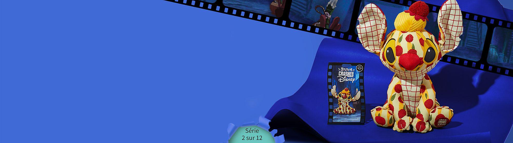 Prochainement ! Stitch s'incruste dans La Belle et le Clochard Collectionnez le pin's et la peluche de la série 2 sur 12 en édition limitée