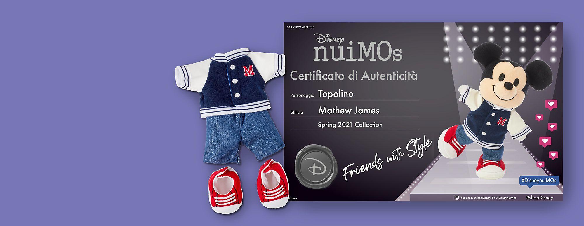 Mostra a tutti il tuo stile unico Diventa uno stilista nuiMOs Disney ufficiale e ricevi GRATIS un certificato di autenticità