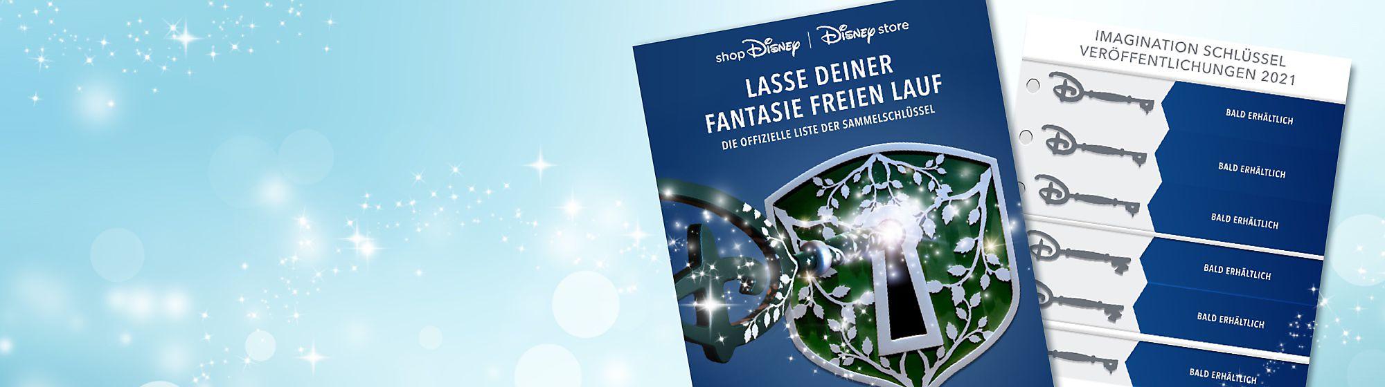 Imagination-Schlüssel Entdecke den Zauber mit unseren Imagination-Schlüsseln. Die charaktervollen Schlüssel sind von den Eröffnungszeremonie-Schlüsseln aus den Disney Stores inspiriert und das perfekte Sammlerstück für Fans. Sieh dir auf unserer Checkliste an, welche Schlüssel bereits veröffentlicht wurden.