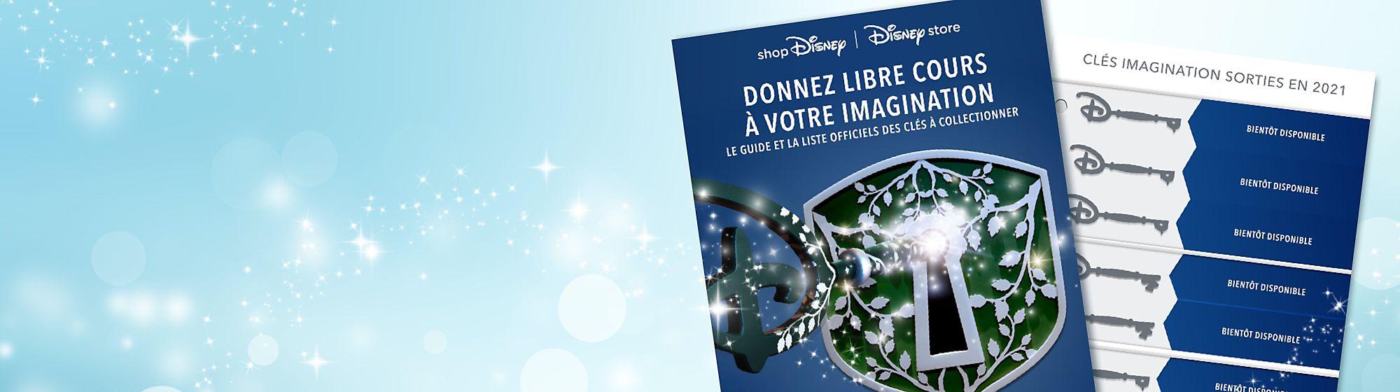 Clés Imagination Libérez la magie avec nos clés Imagination. Inspirées des clés de cérémonie d'ouverture disponibles dans les Disney Stores, ces clés thématiques feront le bonheur des fans de Disney et des collectionneurs. Consultez notre liste pour connaître les clés qui sont sorties jusqu'à présent.