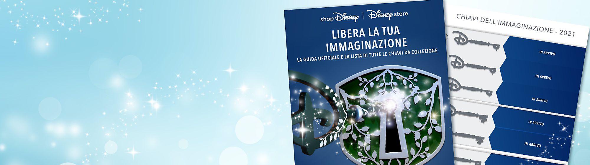 Chiavi Imagination Libera la magia con le nostre chiavi Imagination. Ispirate alle chiavi Opening Ceremony disponibili nei Disney Store, queste particolari chiavi sono perfette per fan e collezionisti Disney. Controlla quali chiavi sono uscite fino ad ora nella nostra checklist.