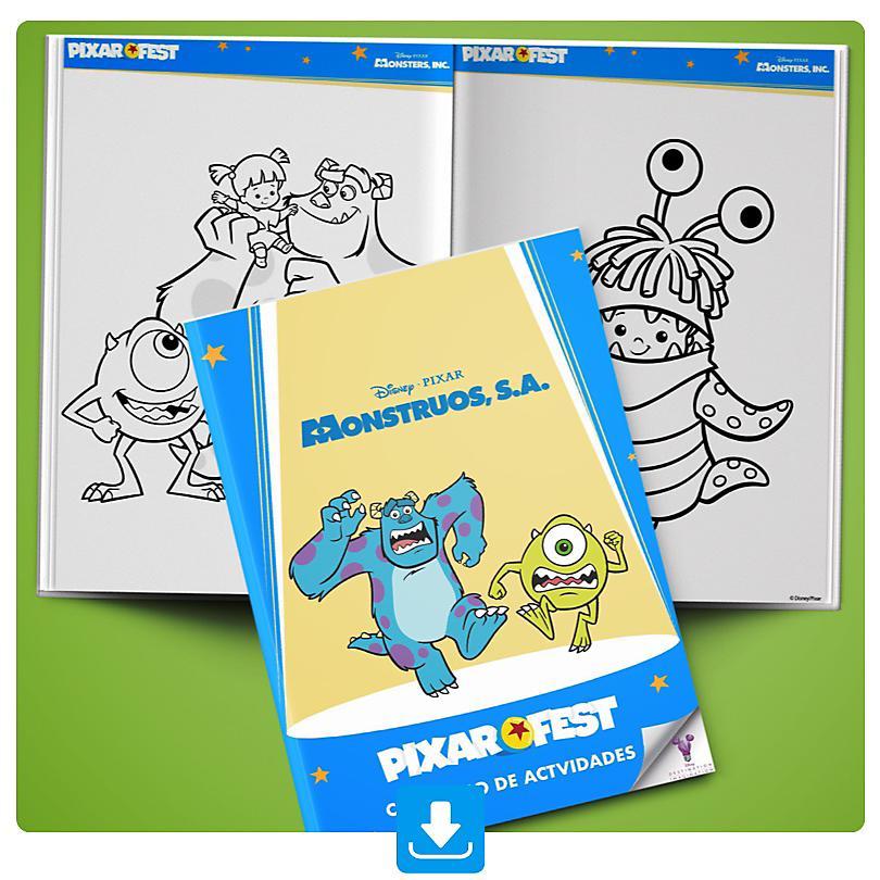 Cuaderno Actividades Monstruos S.A.