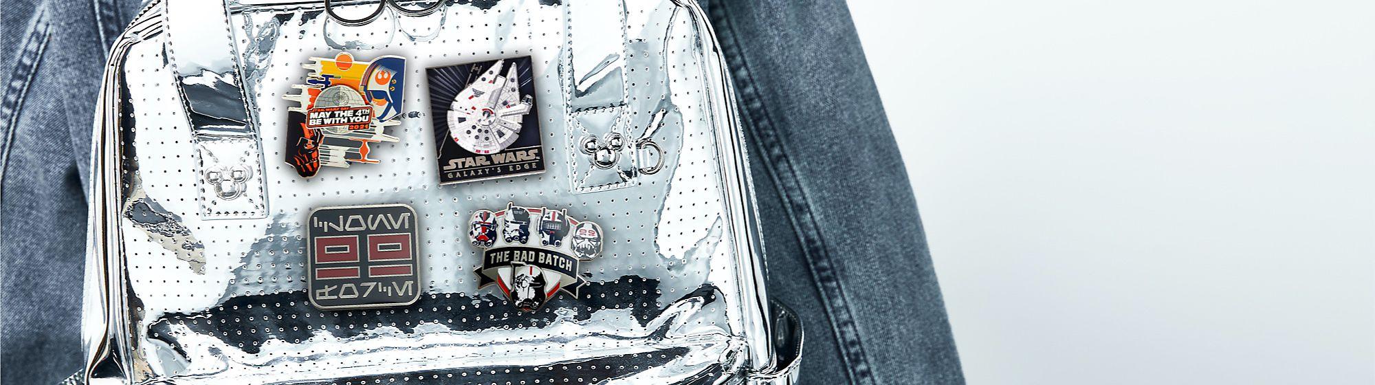 Borsa personalizzabile con le pin Scopri la nostra collezione di pin, badge e portachiavi