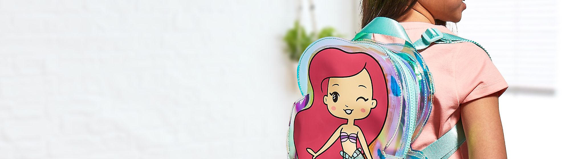 Kids' Bags and Accessories Take the magic with you with our range of kids' bags and accessories, including backpacks, sunglasses, hats and more