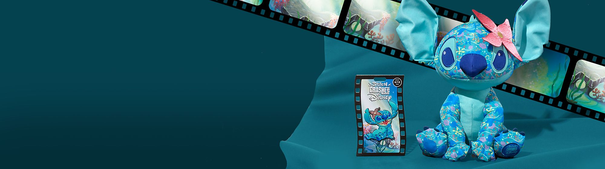 Stitch Crashes La Sirenetta Colleziona questa Edizione Limitata di pin e peluche, serie 4 di 12 In uscita in un secondo momento in primavera