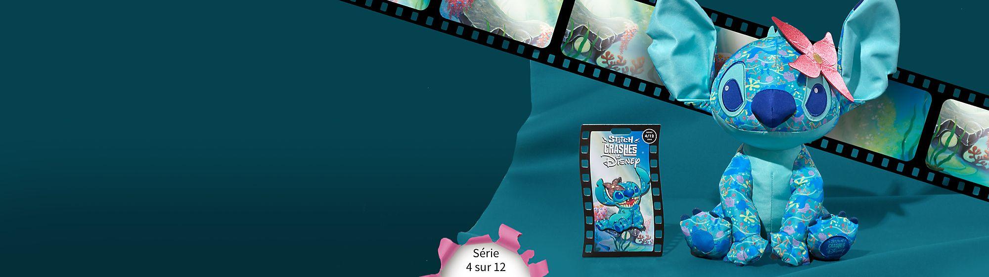 Stitch s'incruste dans La Petite Sirène Collectionnez le pin's et la peluche de la série 4 sur 12 en édition limitée