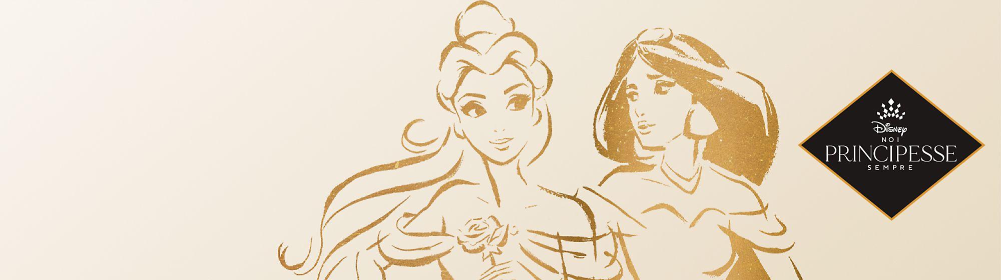 Principesse Disney adulti Scopri una incantevole linea di tazze, articoli da regalo e abbigliamento ispirata alle Principesse Disney