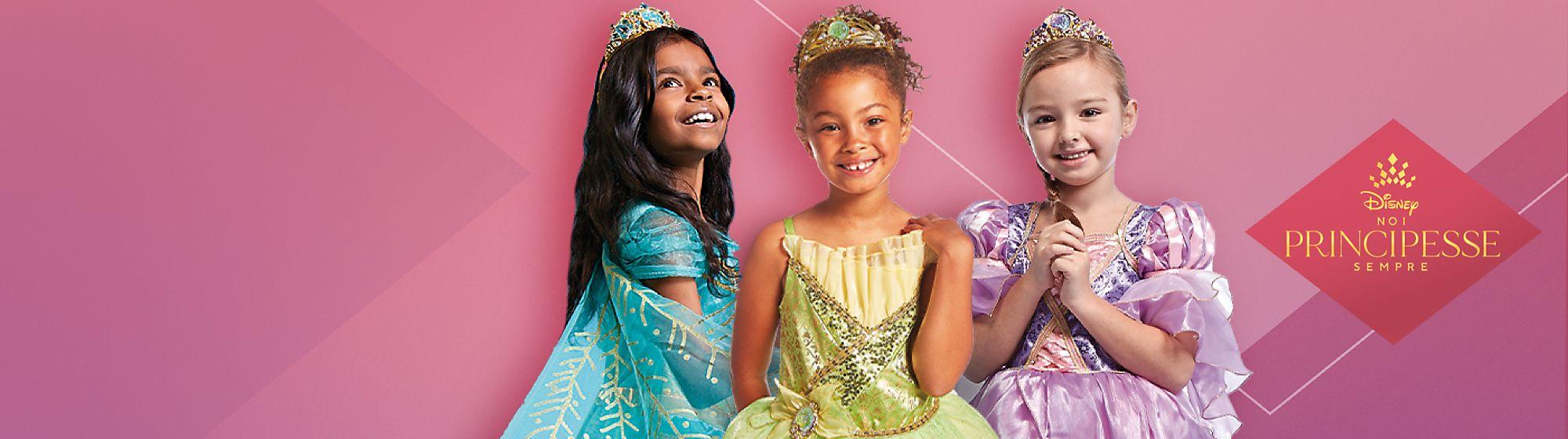 Principesse Disney bimbi Scopri una incantevole linea di bambole, giochi e costumi ispirata alle Principesse Disney