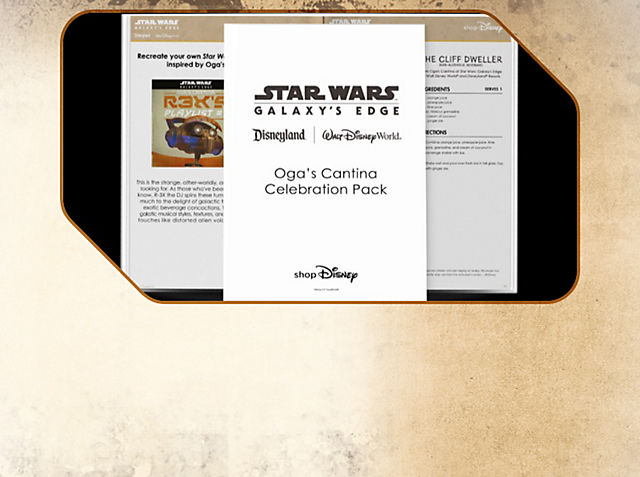 Oga's Cantina Celebration Pack Recreate your own Star Wars themed party at home, inspired by Oga's Cantina on Batuu.