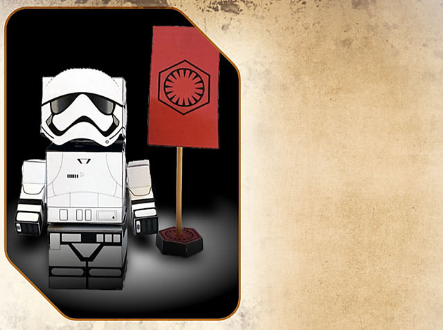 First Order Stormtrooper Foldable Activity Make your own fold & play creations!