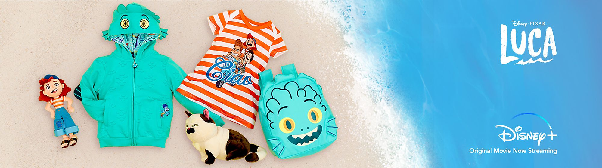 Discover the delights of the Italian Riviera with our Luca soft toys, clothing and more