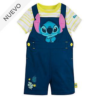 Conjunto body y peto Stitch para bebé, Disney Store
